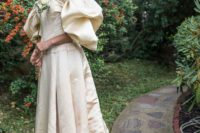 31 a bride wearing a 120-year-old dress from her family