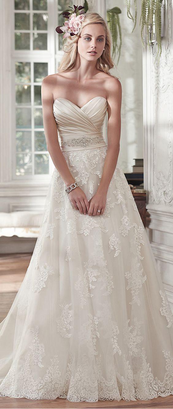 38 Sweetheart Wedding Dresses That Wow - Weddingomania