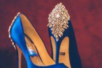 33 bejeweled royal blue wedding shoes