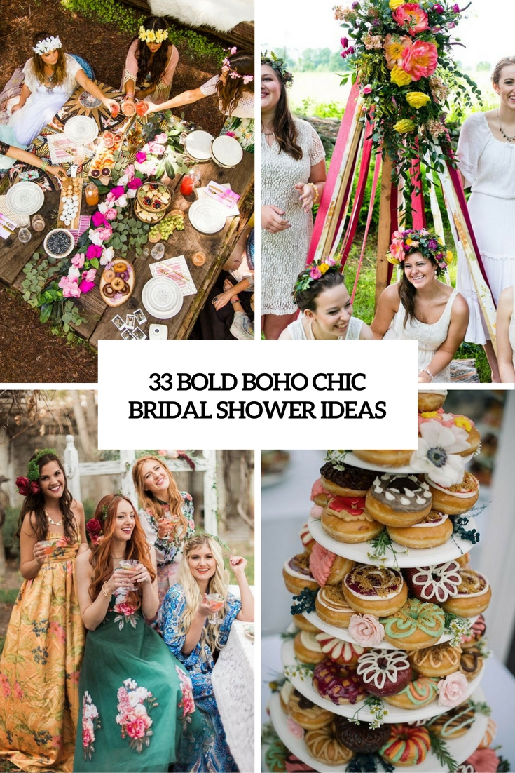 bold boho chic bridal shower ideas cover