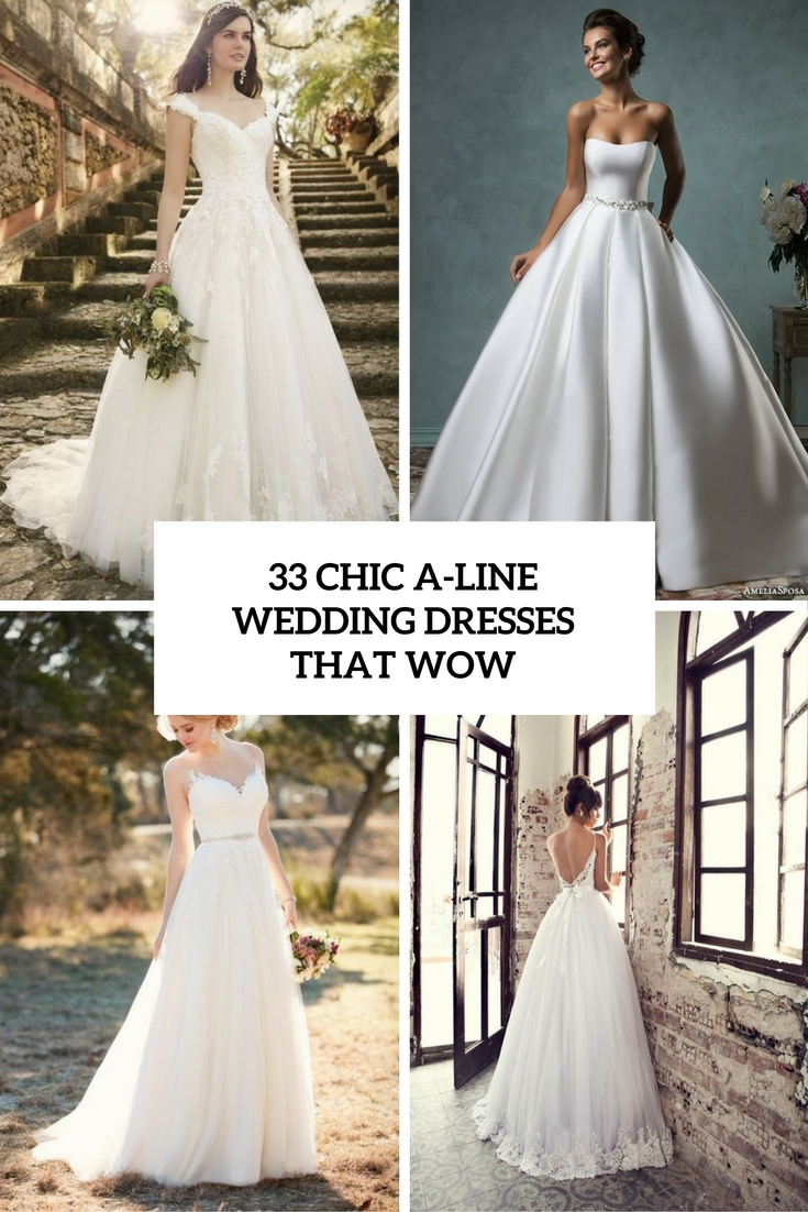 chic a line wedding dresses that wow cover
