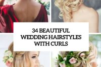 34 beautiful wedding hairstyles with curls cover