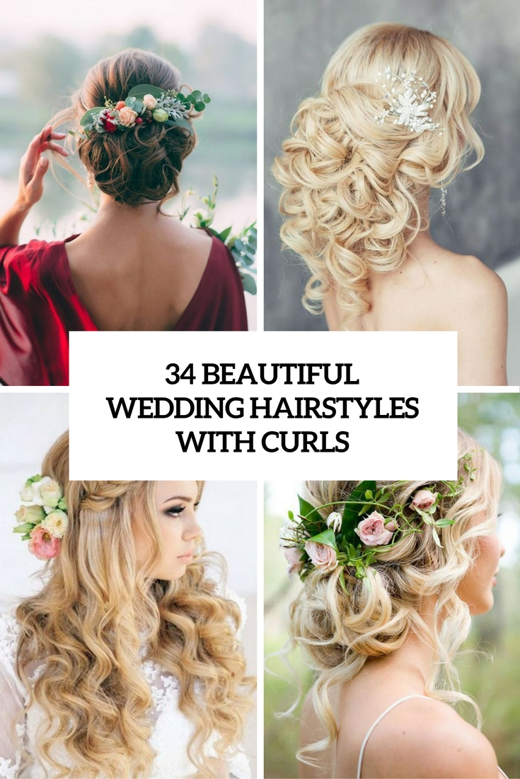 34 Beautiful Wedding Hairstyles With Curls