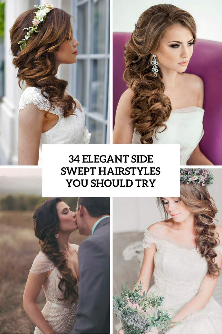 34 elegant side swept hairstyles you should try weddingomania 34 elegant side swept hairstyles you should try solutioingenieria