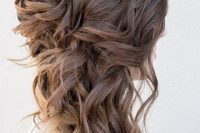 34 wavy and braided messy side swept hair