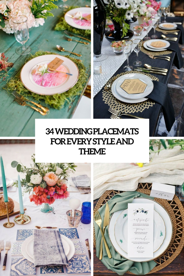 34 Wedding Placemats For Every Style And Theme