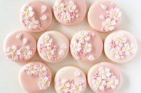 35 cherry blossom cookies