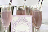 35 lavender lemonade with lavender drink stirrers