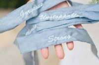 36 add pale blue ribbon to your bouquet