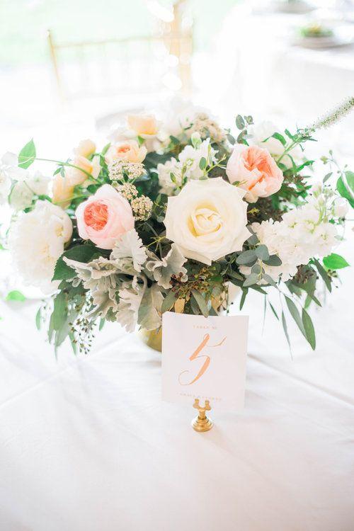 blush and ivory textural flower arrangement