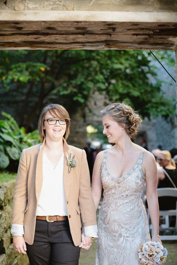 Gay Wedding Dresses 38 Best glitzy embellished strap wedding
