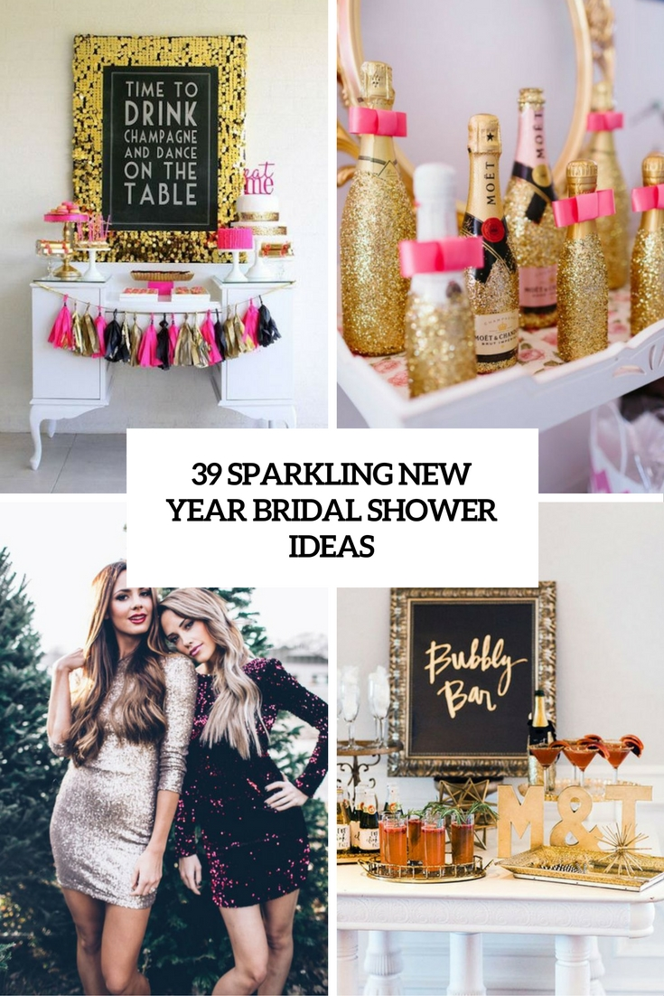 sparkling new year bridal shower ideas cover