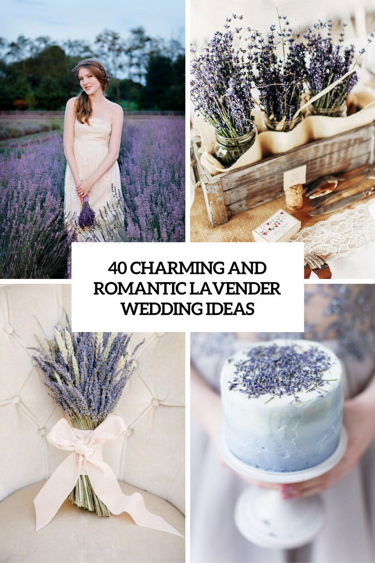 charming and romantic lavender wedding ideas cover