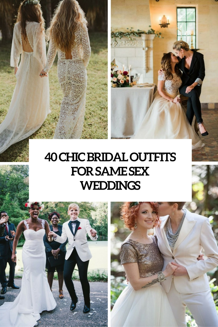 chic bridal outfits for same sex weddings cover