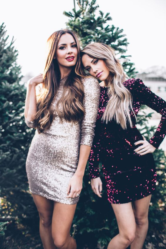 rock sequin dresses, they are ideal for any New Year party