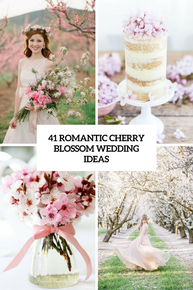 romantic cherry blossom wedding ideas cover