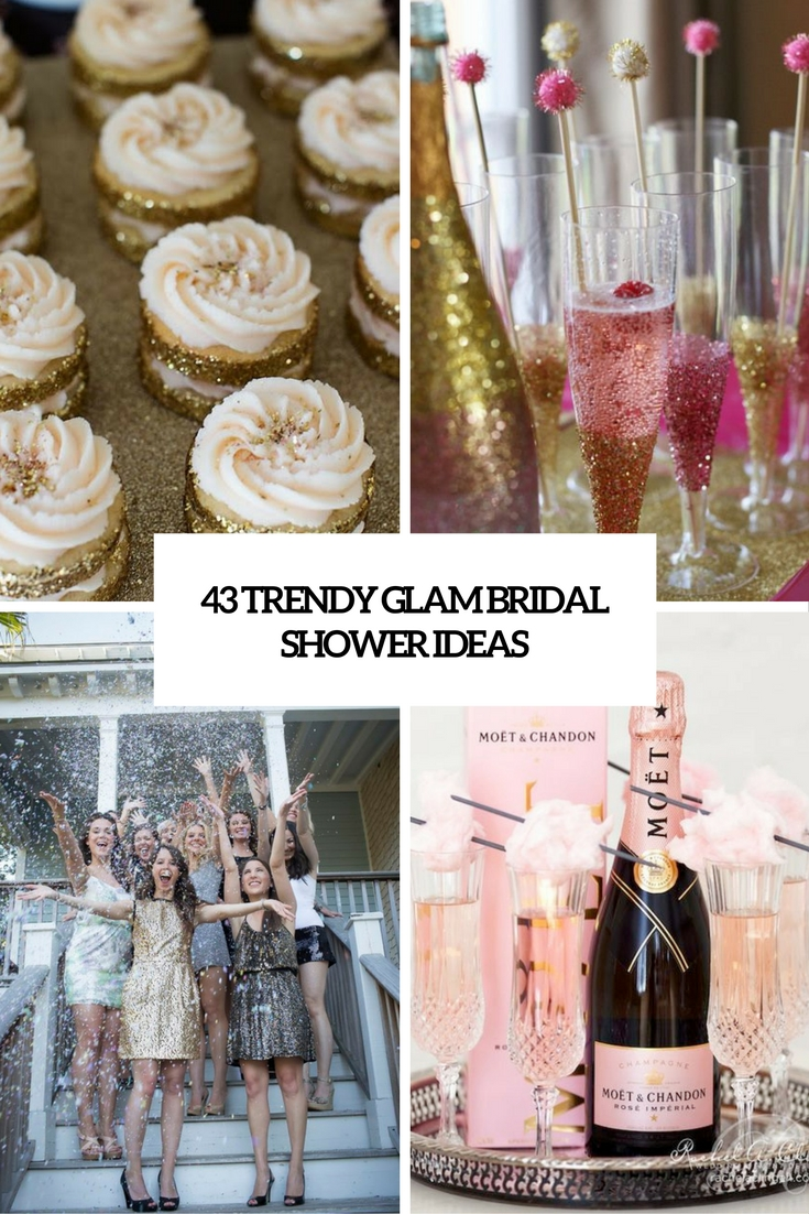 trendy glam bridal shower ideas cover