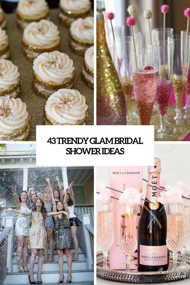 44f83515346f 43 Trendy Glam Bridal Shower Ideas - Weddingomania