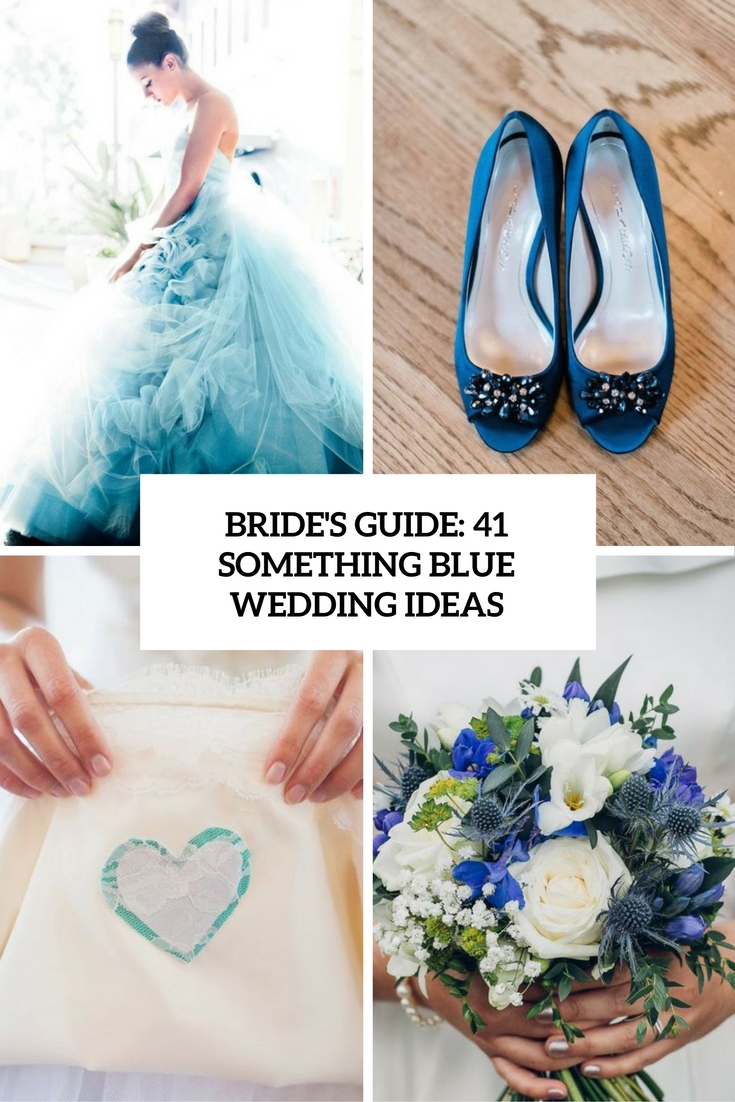 bride's guide 41 something blue wedding ideas cover