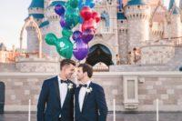 01 These grooms chose Disney World Resort as their wedding place and Disney as their wedding theme