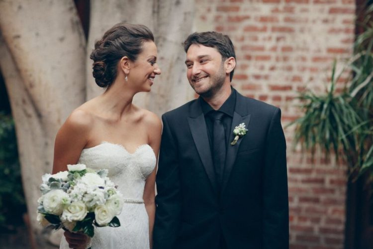 This couple married in Carondelet House, which we had told you about before, they had an elegant black and white wedding