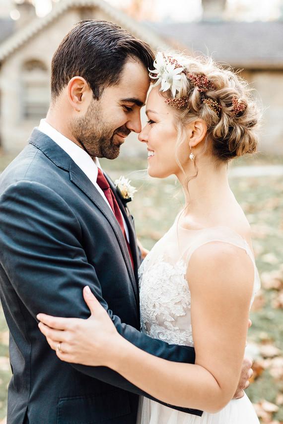 Rustic Modern Fall Wedding Shoot Outdoors