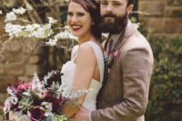 01 This vintage-inspired wedding took place on a Christmas tree farm with a barn