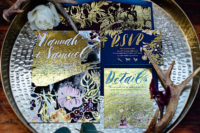 02 The wedding stationery was colorful but with a moody winter feel