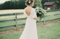03 low back lace wedding dress with a train