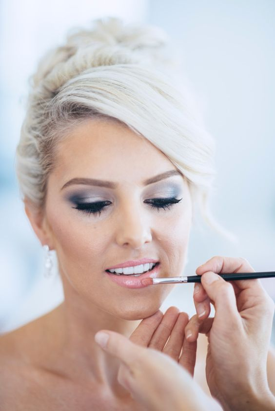 Picture Of Silver Smokey Eye And A Nude Lip