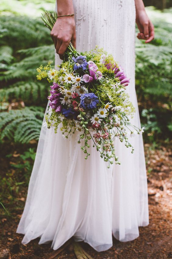 Textural Boho Wedding Bouquet For The Bride