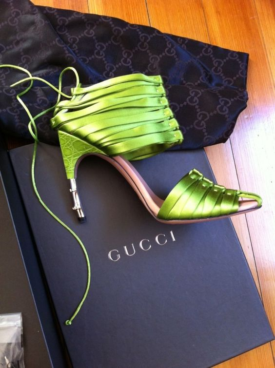 whimsy Gucci heeels with straps