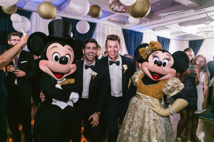 Of course Minnie and Mickey Mouse were guests at the reception and the party