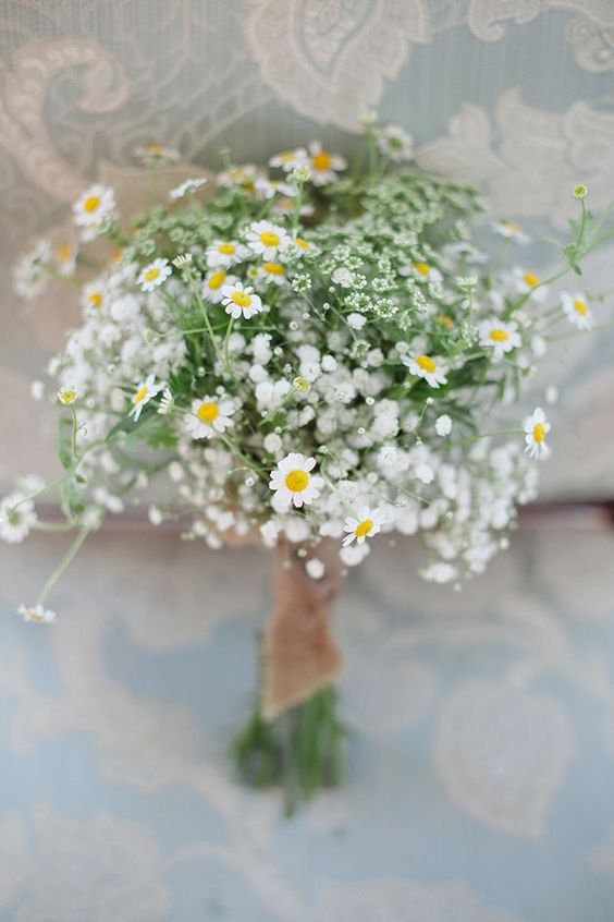 chamomile daisies are an amazing choice for a bridal bouquet