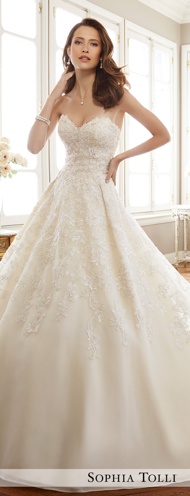 07 classic sweetheart beaded and lace ball gown