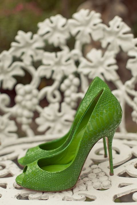 lime green high heels with eep toes