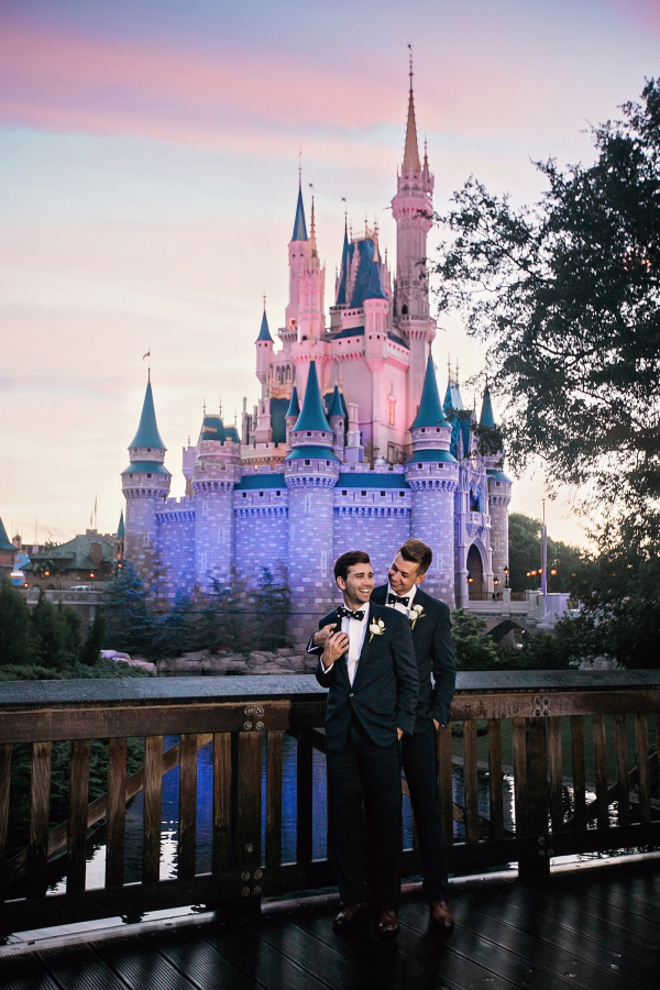 Grooms loved disney since childhood and their dream of marrying there came true