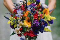 08 bold wildflower wedding bouquet can be made by yourself