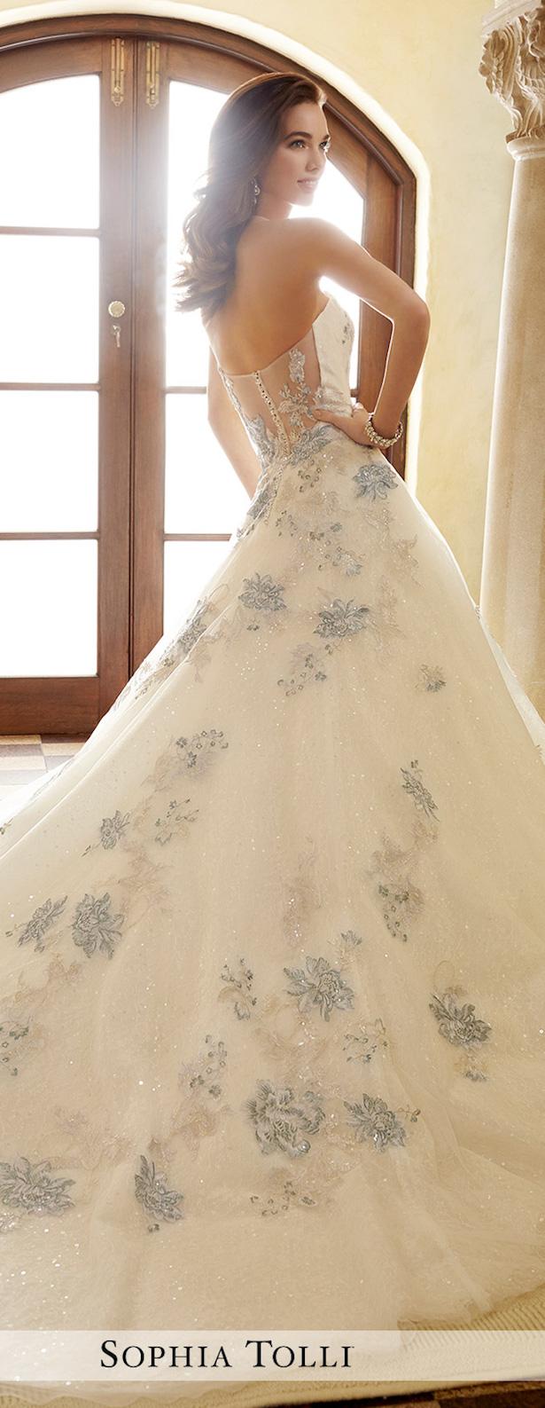 Wedding Dress With Blue 26 Beautiful  a new take