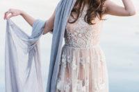 wedding dress blush