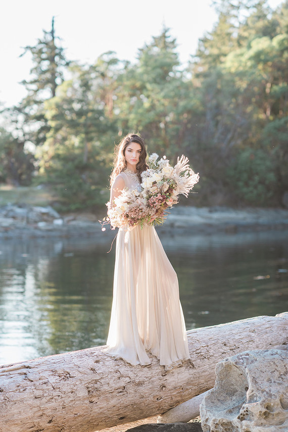 The beautiful natural surroundings inspred this wedding shoot