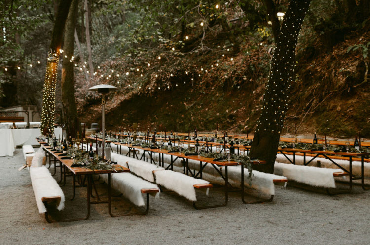 The reception was an ethereal woodland one
