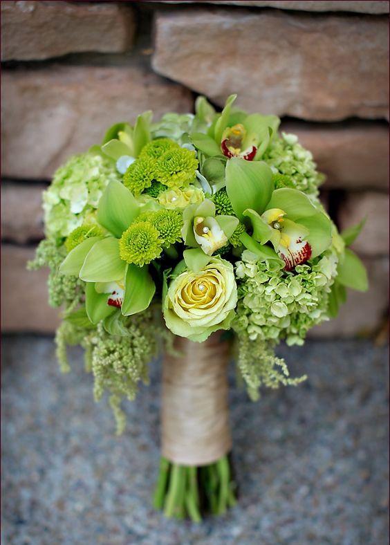 lime green wedding bouquet