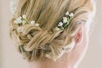 13 beautiful braided updo with lily of the valley