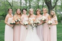 13 various shades of blush and different designs to please very girl