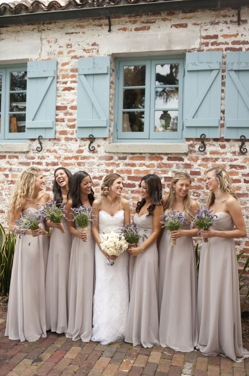 Cream Bridesmaid Dresses