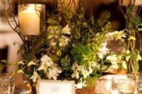 16 greenery and flowers with candles for the table decor