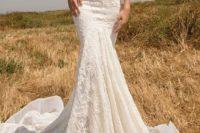 22 strapless sweetheart lace mermaid wedding dress by Glia Lahav