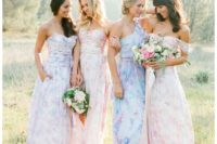 23 colorful mismatched floral dresses