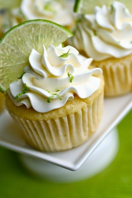margarita wedding cupcakes with tequila lime buttercream
